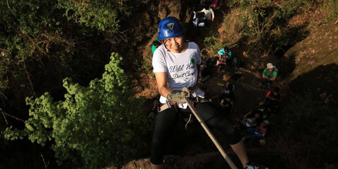Rocksport Adventure camps- Rappelling